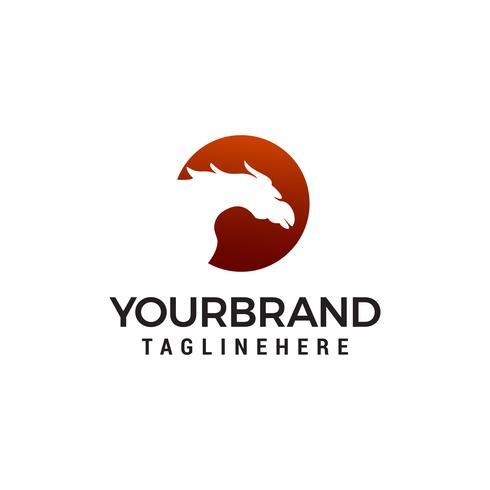 vetor de modelo de conceito de design de logotipo de cavalo