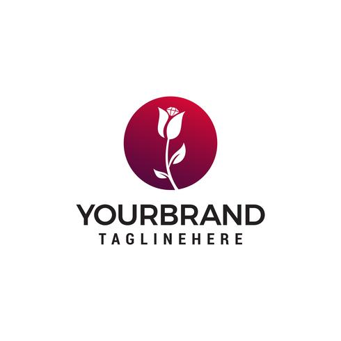 vetor de modelo do spa cosmética flor logotipo design conceito