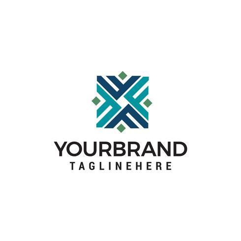 letra inicial F Logo design conceito modelo vector