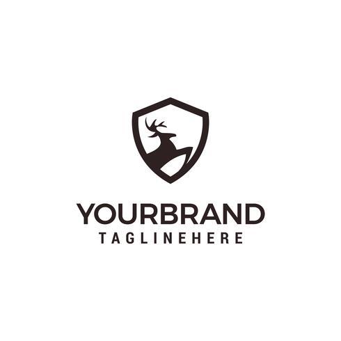 veado escudo logotipo modelo vector illustration design