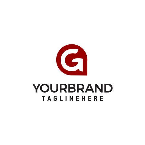 Conceito de design de logotipo de forma moderna de letra G app vetor