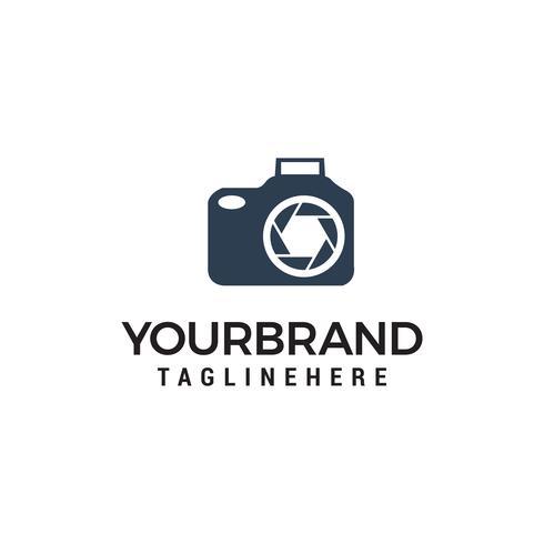 Modelo de vetor foto câmera logo design