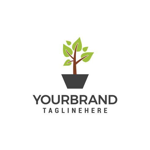 planta verde logotipo modelo vector ícone do design