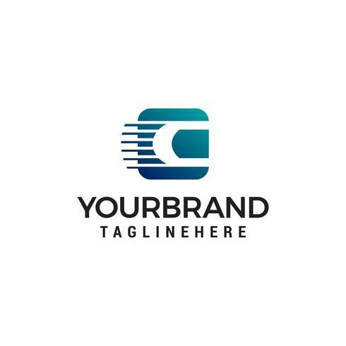 letra c logotipo design conceito modelo vector