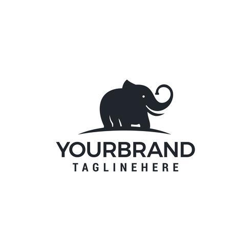 Conceito de design de logotipo de elefante simples e minimalista vetor