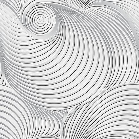 Fundo preto e branco abstrato e teste padrão sem emenda na arte do vetor. vetor