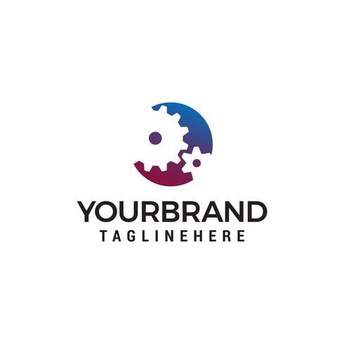 vetor de modelo de conceito de design de logotipo de forma de engrenagem industrial