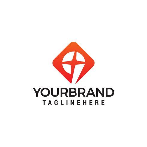 vetor de modelo de conceito de design de logotipo número 9 estrelas