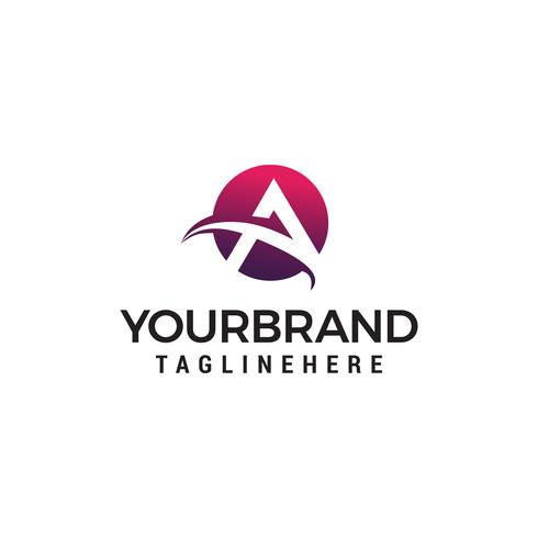 carta um vetor de modelo de conceito de design de logotipo