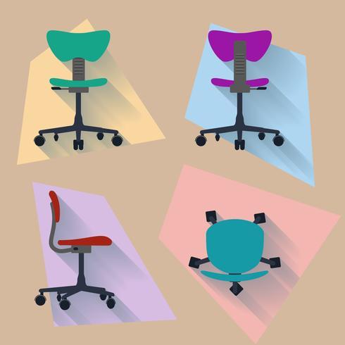 Cadeira de quatro direções vetor