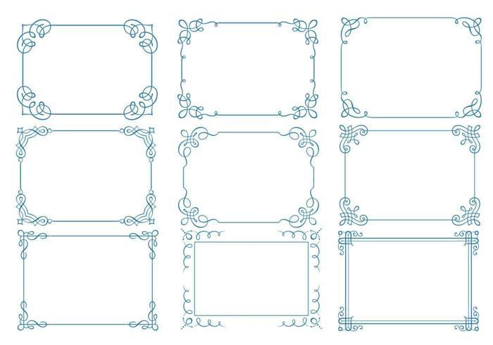 Pacote de vetores de moldura caligráfica