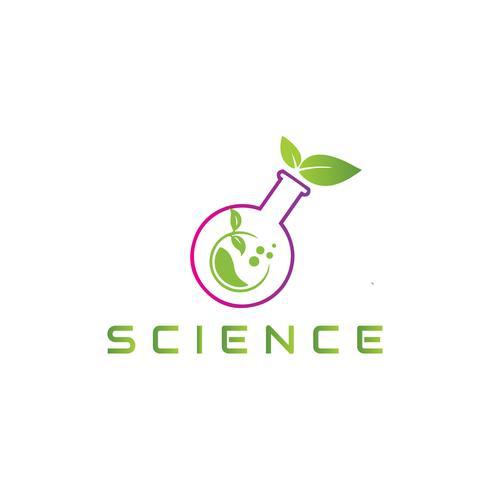 Eco logo Ciência vetor