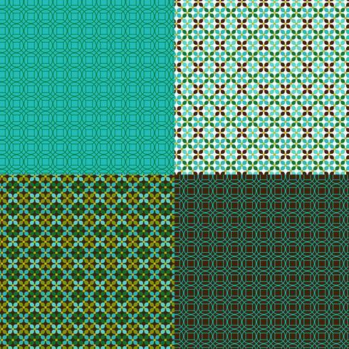 padrões geométricos sem costura com azul e verde vetor
