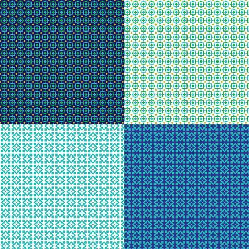 padrões geométricos pequenos sem costura vetor