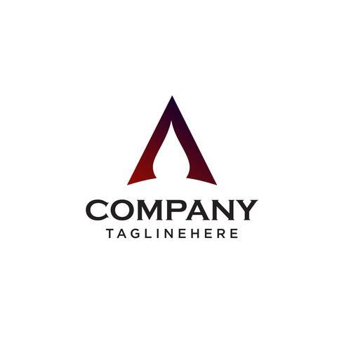 letra A logo. conceito de design minimalista. vetor