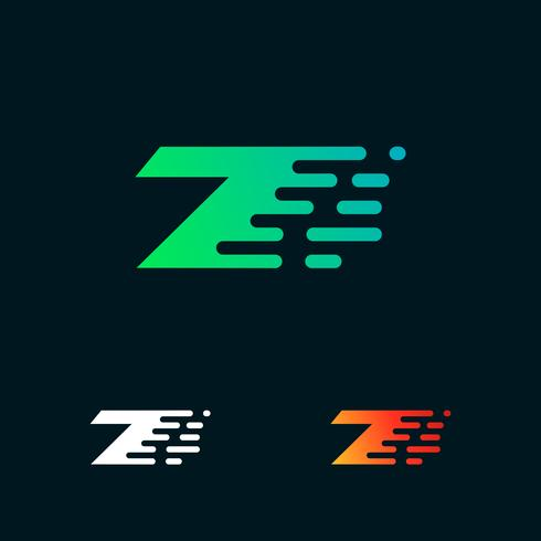 Vetor de design de logotipo de formas modernas de velocidade número 7