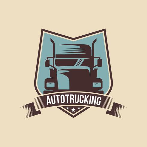 Um modelo de logotipo do caminhão, carga, entrega, logística vetor