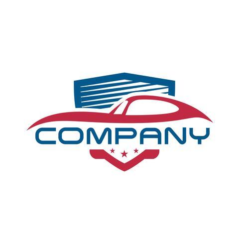 Modelos de logotipo de escudo de carro vetor