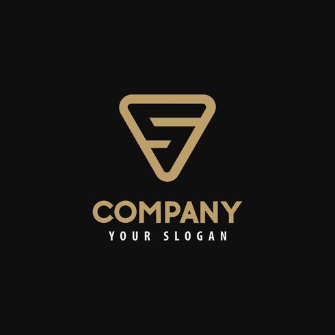 Modelo logotipo letra s, logotipo dourado. Ilustração vetorial. vetor
