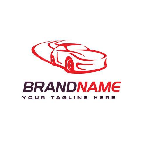 Logotipo do carro de deriva, modelo de design de logotipo automotivo vetor