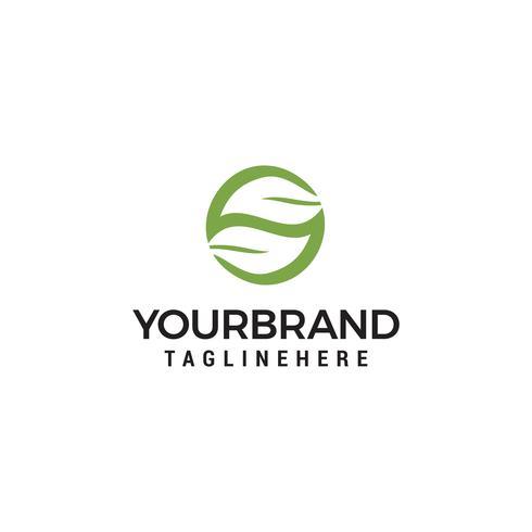 letra S folha elemento de design de logotipo vetor
