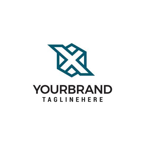 modelo de design de logotipo de letra inicial X hexagonal vetor