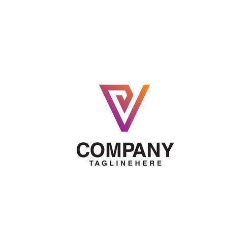 V Logo Monograma. Projeto simples do monograma da linha limpa da letra V. vetor