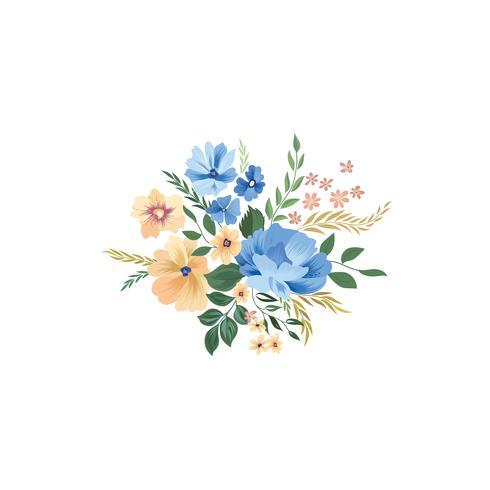 Padrão de quadro floral. Fundo de buquê de flores. Cartão d vetor