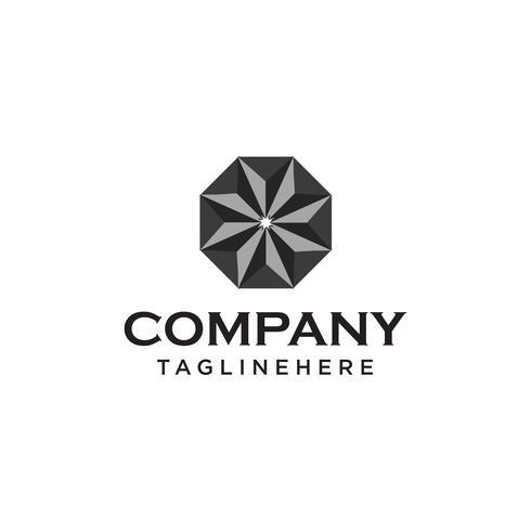 modelo de design de logotipo de diamante vetor