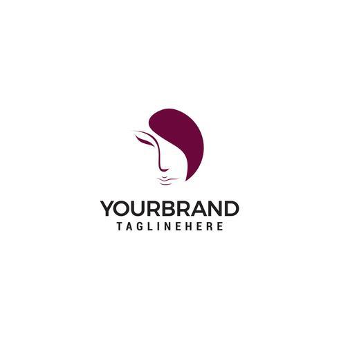 mulheres enfrentam o logotipo no fundo branco vetor