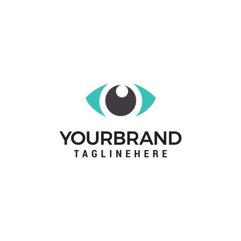 Modelo de Design de logotipo de conceito de olho criativo vetor