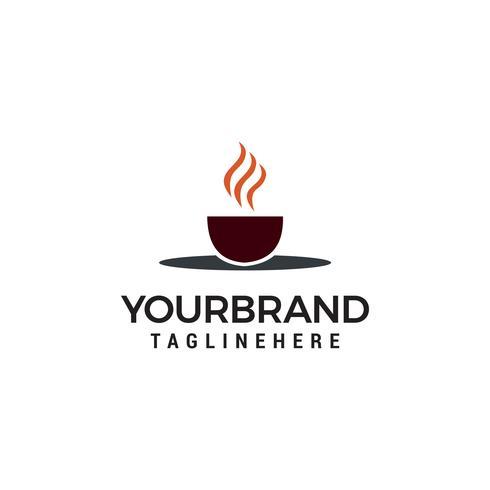Modelo de design de logotipo de vetor xícara de café. Rótulos de café de vetor.