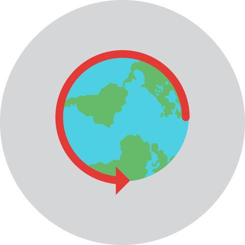 Vector rodada o ícone do mundo