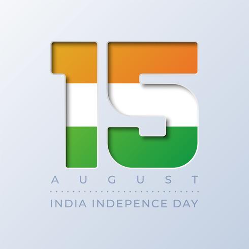 Dia da Independência da Índia, 15 de agosto de fundo vetor