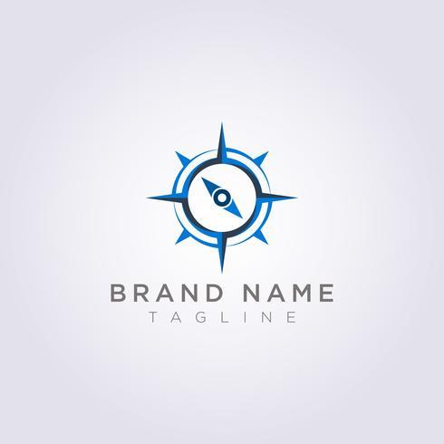 Projete um logotipo da bússola com um estilo moderno para sua empresa ou marca vetor