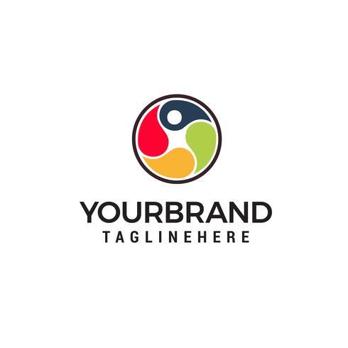 logotipo de cuidados de saúde humana, logotipo de fisioterapia, logotipo de salto humano, p Logotipo da carta vetor