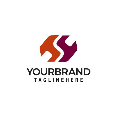 HS, S logo Modelo de Design de Logotipos vetor