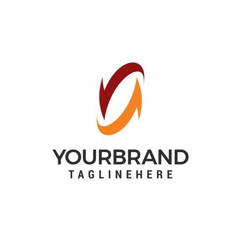 Rotação da letra N Logo Design Template vetor