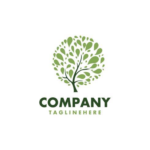 Logotipo saudável de árvore fresca de vetor