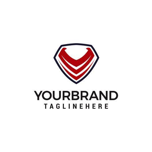 escudo de letra V logotipo projeta vetor modelo