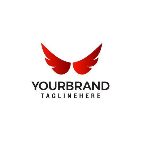 vetor de modelo de conceito de design de logotipo de asas