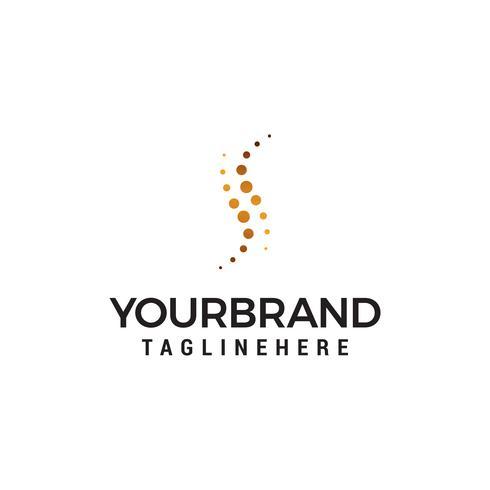 Logotipo do ponto da letra S. S carta Design Vector com vetor de modelo de conceito de design de logotipo pontos