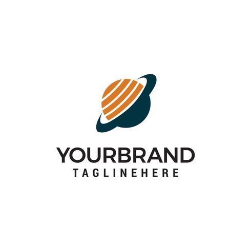 Globe technology Logo Design de modelo vetor