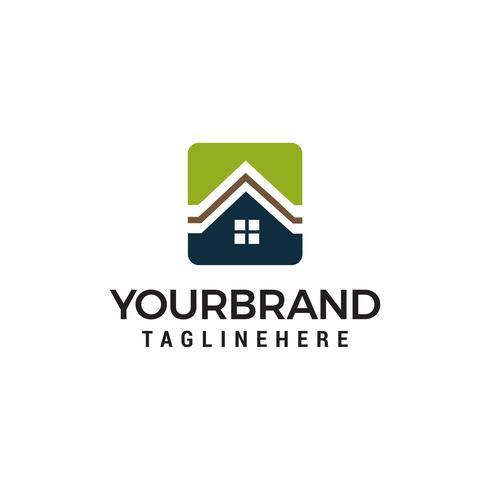 Design de modelo de logotipo de vetor imobiliária