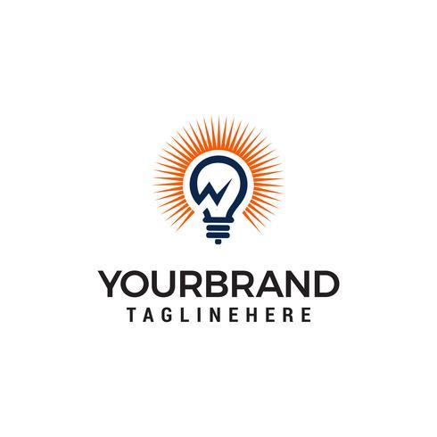 Design de logotipo de energia de energia vetor