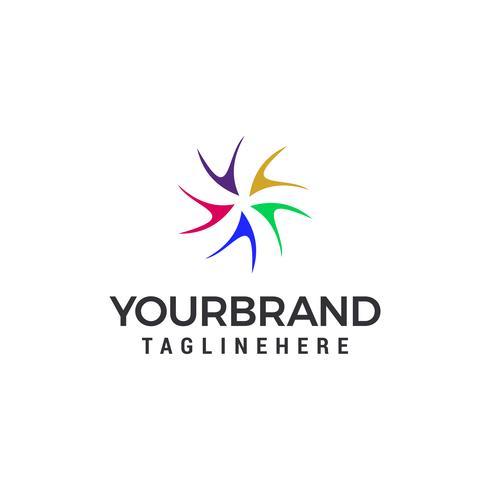 Vortex Logo Template vector illustration design