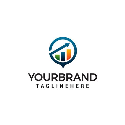 arrow Vetor de modelo de conceito de design de logotipo de crescimento financeiro