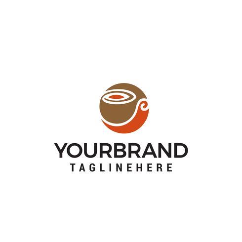 vetor de modelo de conceito de design de logotipo de café