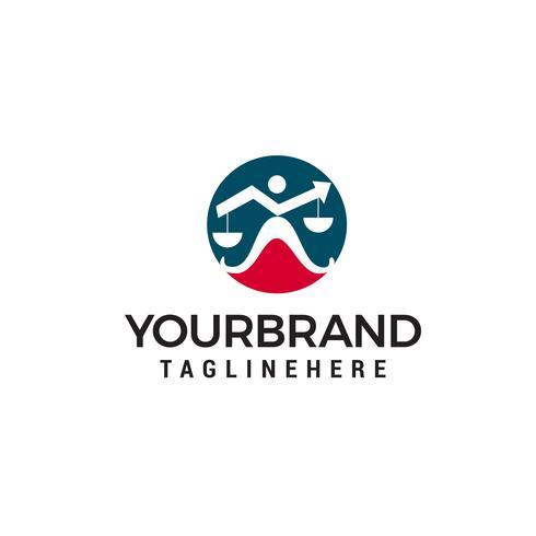 Modelo de design de logotipo de seta lei Vetores