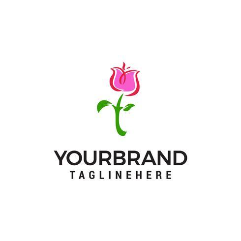 vetor de modelo de conceito de design de logotipo rosa